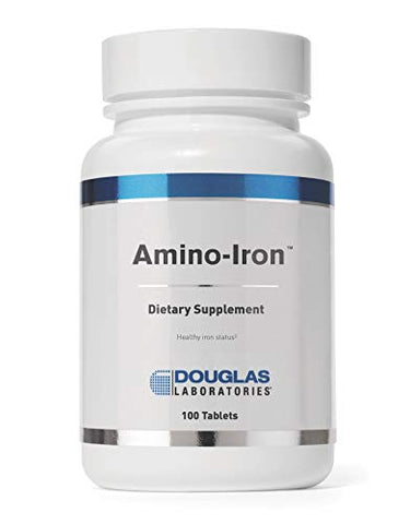 Douglas Laboratories - Amino-Iron - Highly Absorbable Iron/Amino Acid Supplement - 100 Tablets