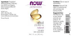 Now Solutions, E Oil 23,000 Iu, Natural Skin Rejuvenation, Skin Moisturizer, 1 Ounce