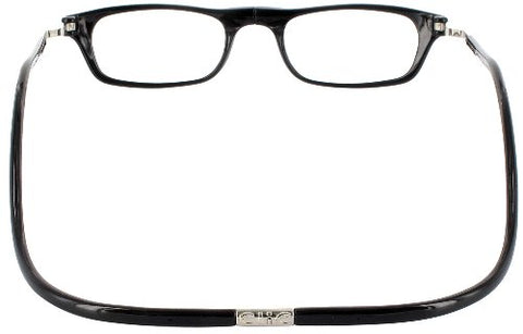 CliC Reader XXL Single Vision Half Frame Designer Reading Glasses, Black, +1.25