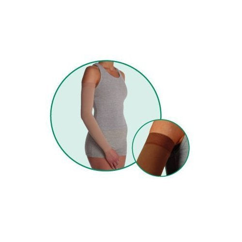 Arm Sleeve Long with Silicone Border, Beige, Size 5, Extra Large, Compression 20-30 mmHg, Model 200