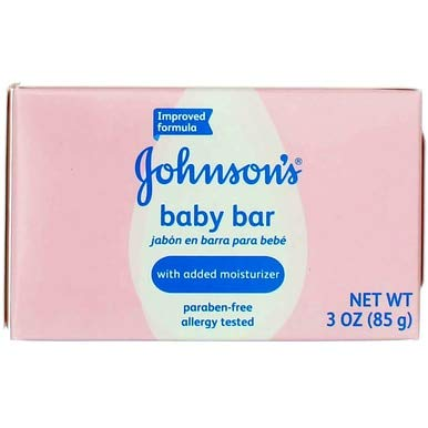 Johnson's Baby Bar Soap, 3 Oz (5 Pack) (Bundle)