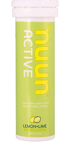 Nuun Active Lemon Limet Electrolyte Enhanced Drink Tablets 10 Tablest (52g)