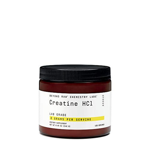Beyond Raw Chemistry Labs Creatine HCl, 120 Servings, Improves Muscle Performance