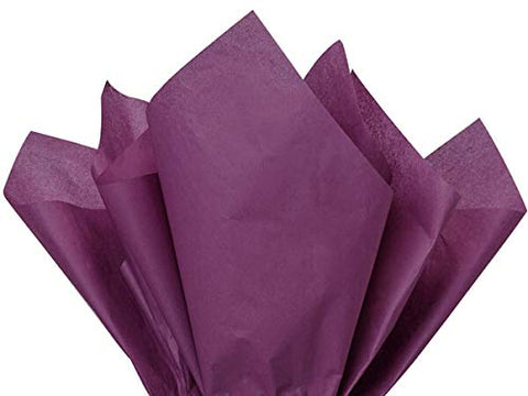 A1BakerySupplies Premium High Quality Gift Wrap Tissue Paper 15 Inch X 20 Inch - 100 Pack (Plum) Made in USA