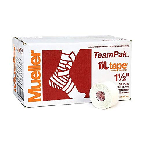 Mueller Sports Medicine 130105 Mtape Athletic Tape White (Pack of 32)