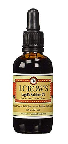 J.CROW'S Lugol's Solution of Iodine 2% 2oz