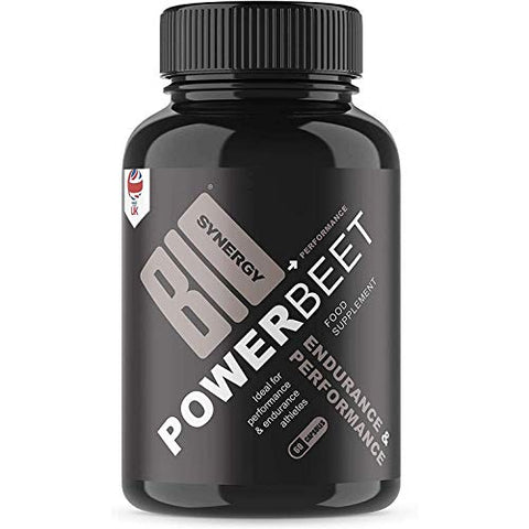 Bio-Synergy Power Beet - Beet Root Capsules 500mg Per Serving - 60 Beet Root Powder Capsules - Supports Athletic Performance, Stamina, Faster Recovery - Nitric Oxide Supplement (Gluten Free, Non-GMO)