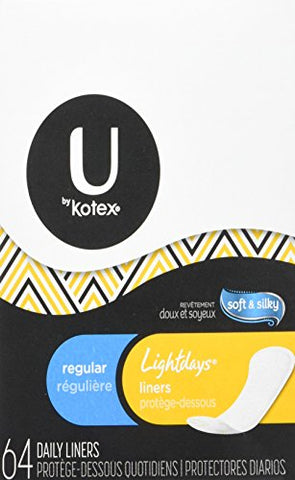 Kotex Natural Balance Lightdays Liners, Regular -64 ct.