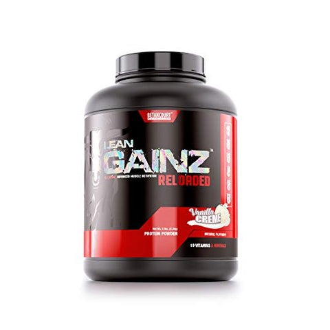 Betancourt Nutrition Lean Gainz Protein Blend, Natural Protein, Carbohydrates, Saturated Fatty Acids, Powder 5.3 lb. (16 Servings), Vanilla Creme