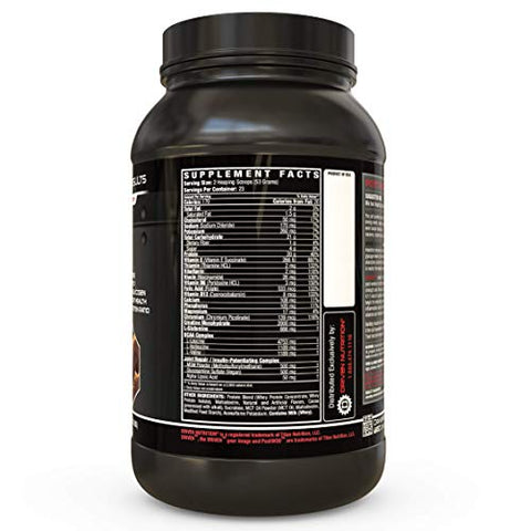 POSTWOD Post Workout Recovery Supplement- Muscle Builder with Whey Protein Powder and Carbs |Creatine, BCAA, MCT Oil and Joint Repair| (Chocolate Peanut Butter Prize)