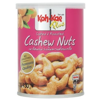 Koh-Kae, Plus, Salted & Roasted Cashew Nuts, 130 g [Pack of 1 piece]