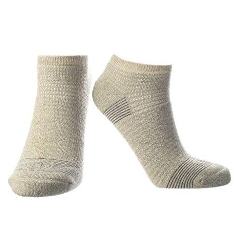 Doctor's Choice Women's Diabetic & Neuropathy Socks, No Show, Non-Binding with Aloe, Ventilation, and Seamless Toe, Single Pair, Tan, Womens Medium: Shoe Size 6-10