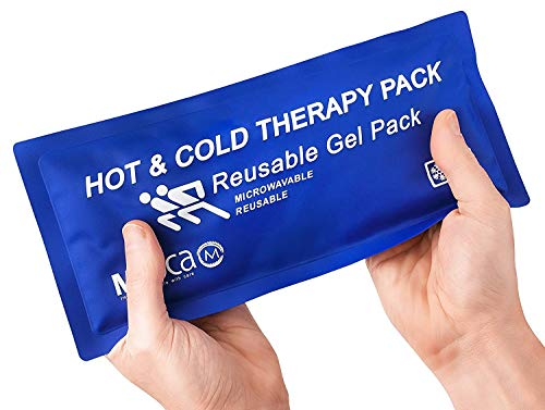 "Reusable Hot Cold Compress for Pain Relief - 5"" x 10"", Soft & Comfortable Ice Pack for Injuries, Recovery, Knee, Shoulder Pain, Sprains, Migraines, Physical Therapy, Fast Joint and Muscle Pain Relief"