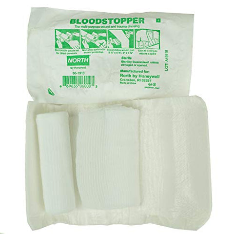 Swift First Aid Bloodstopper, Multifunctional Wound and Trauma Dressing, 3 1/2'' X 5 1/2''