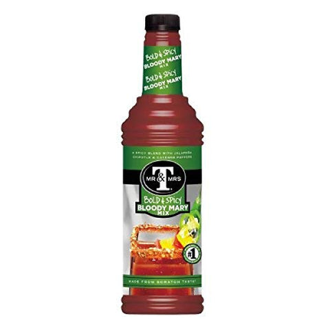 Mr. & Mrs. T Bold & Spicy Bloody Mary Mix, 1 Liter Bottle