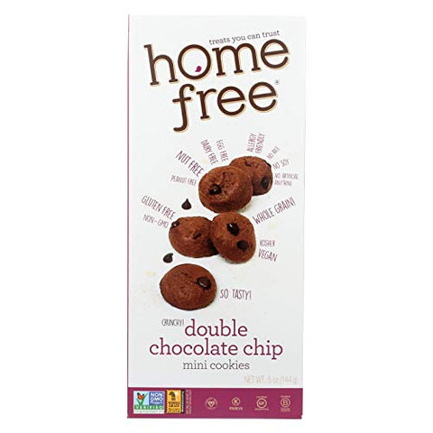 Homefree - Gluten Free Mini Cookies - Double Chocolate Chip - Case Of 6 - 5 Oz.
