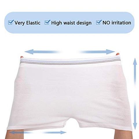Washable Mesh Pants 4 Pack Postpartum Underwear Hospital Provide for Surgical Recovery,Incontinence, Maternity (S/M(12-38 in))