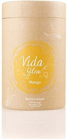 Vida Glow 100% Natural Marine Collagen Mango Flavor (30 x 3 Gram Servings)