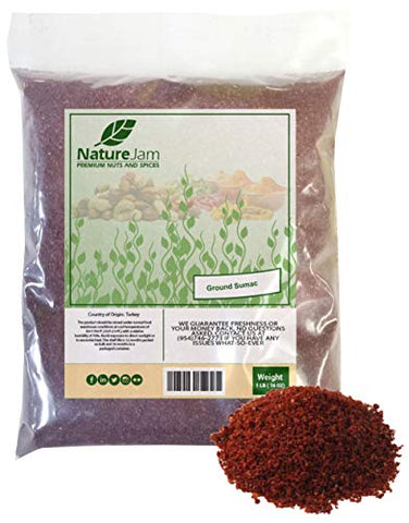 KOSHER Sumac Spice Seasoning 1 Pound Bulk Bag-Pure 100% Sumac Heat Sealed for Freshness