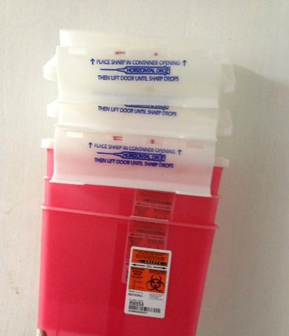 PACK OF 3 EACH SHARPS COLLECTOR 8509SA RED 5QT PT#9509