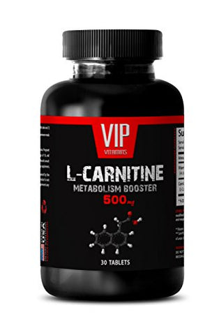 l carnitine Bulk - Carnitine 500mg - VIP Vitamins Bulk Pack (1 Bottle - 30 Tablets)