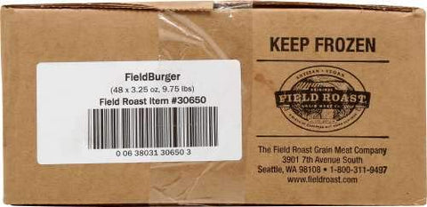 Field Roast Vegan Fieldburger 3.25 ounces (Pack of 48)