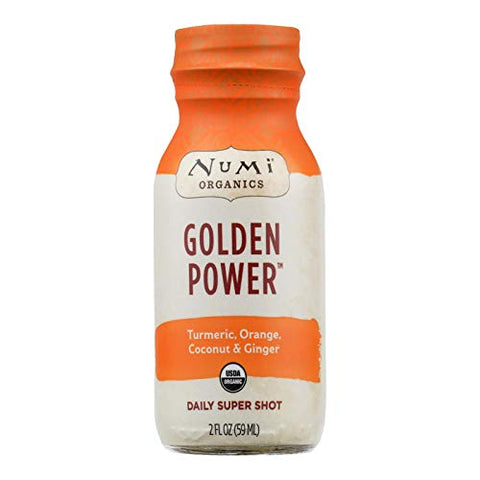 Numi, Super Shot Golden Power Turmeric Orange Coconut Organic, 2 Fl Oz