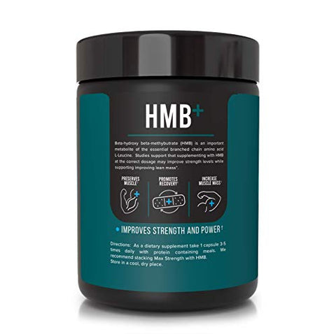 Inno Supps HMB+ 1500mg HMB (Beta-Hydroxy Methylbutyrate) & 50mg Astragin, Enhanced Absorption Per Serving, Preserves Muscle, Promotes Recovery, Increase Muscle Mass, Gluten Free - 100 Veggie Capsules
