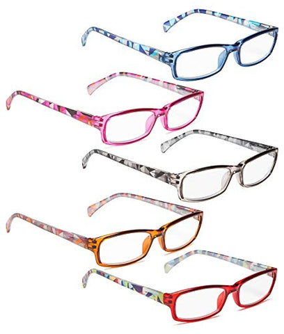 READING GLASSES 5 pack Fashion Readers Mixed Color +1.75