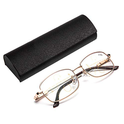 QQAA Blue Light Blocking Glasses,Computer Reading Glasses,Progressive Reading Glasses, Smart Zoom,Transparent Lens,Reduce Headaches&Eyestrain,Stylish for Women/Men