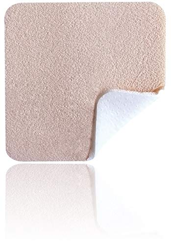 "MedVance TM Silicone - Silicone Adhesive Foam Absorbent Dressing, 6""x6"", Box of 5 dressings"