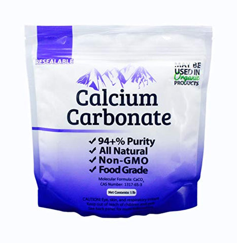 1 lb Food Grade 97+% Calcium Carbonate from Ground Limestone
