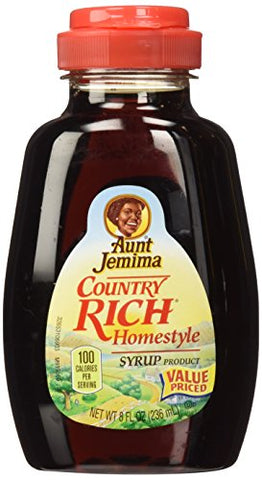 Aunt Jemima, Syrup, Country Rich Homestyle, 8oz Container (Pack of 3)