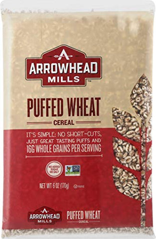 Arrowhead Mills Puffed Wheat Cereal, 6 Ounce Bag (Pack of 12)