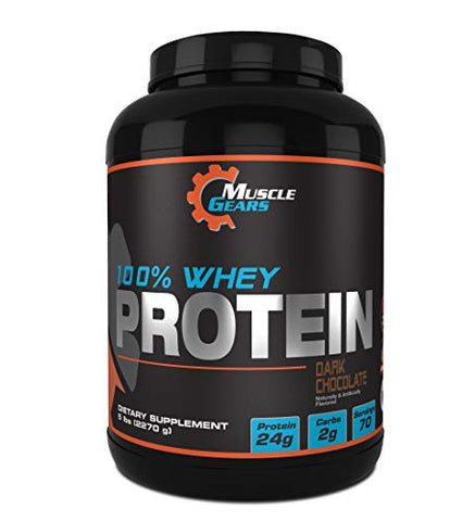 Muscle Gears 100% Whey Protein (5lb, Dark Chocolate)