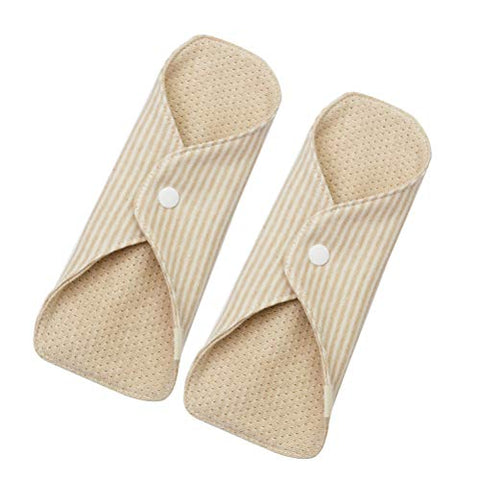 Healifty Sanitary Towel Reusable Breathable Cotton Cloth Menstrual Pads 2Pcs
