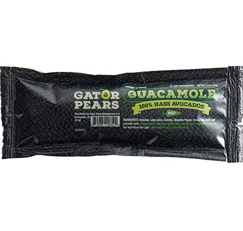 Gator Pears 100% Hass Avocados Mild Guacamole Portion Bulk Packet 1.27 oz.