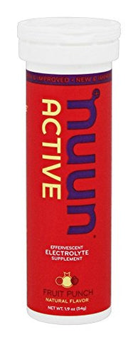 Nuun Active: Fruit Punch Electrolyte Enhanced Drink Tablets (6-Pack of 10)