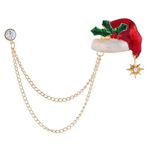 LIMINGZE Christmas Pin Fashion Creative Sweet Badge Pin Collar Pin Lapel Pin Brooch