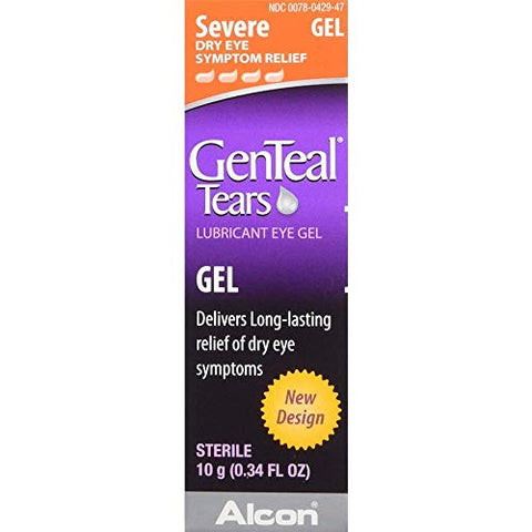 GenTeal Severe Dry Eye Relief Lubricant Eye Gel 0.34 oz (Pack of 4)