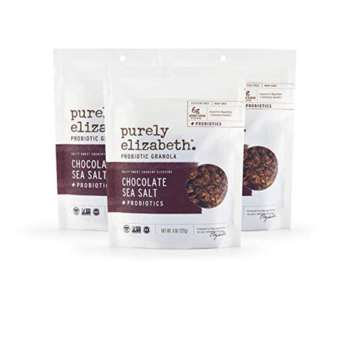 Purely Elizabeth Vegan Gluten-Free Probiotic Granola, Chocolate Sea Salt (3 Ct.)