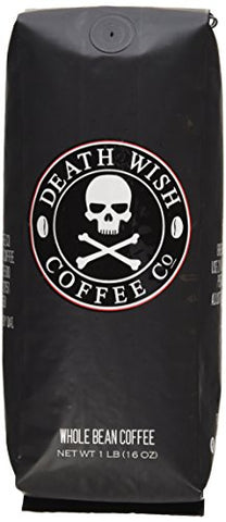 Death Wish Organic Usda Certified Whole Bean Coffee, 16 Oz