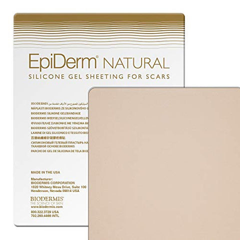 Epi-Derm Large Sheet - 11 x 15.75 in - (Natural) Silicone Scar Sheets from Biodermis