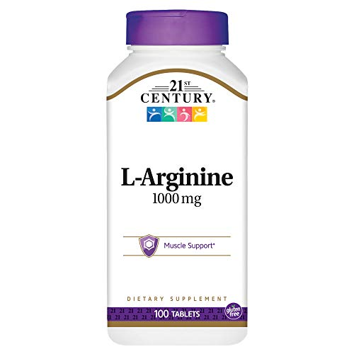 21st Century L-Arginine 1000mg, Maximum Strength 100 ea