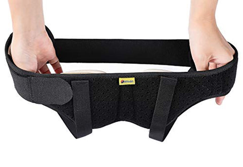 TENBON Hernia Belt Truss for Single/Double Inguinal or Sports Hernia, Hernia Support Brace for Men for Women Pain Relief Recovery Strap with 2 Removable Compression Pads Comfortable Material