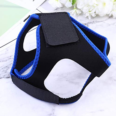 Milisten Adjustable Stop Snoring Chin Strap Comfortable Stop Snoring Devices Anti-Snore Headband Jaw Belt for Men Women Kids (Black Blue)