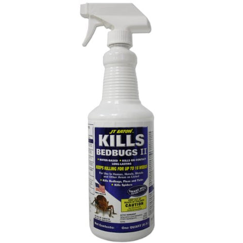 J.T. Eaton Kills Bed Bugs Ii Insecticide Spray Multiple Insects Water-Based Deltamethrin 1 Qt