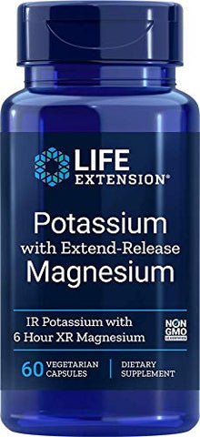 Life Extension Potassium with Extend-Release Magnesium, 60 Count