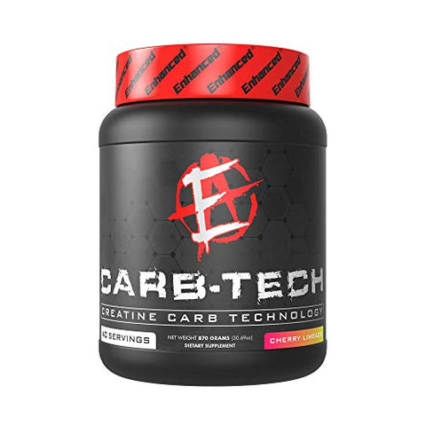 Enhanced Labs - CarbTech Creatine Drink Mix - Carb & Electrolyte Infused Workout Fuel for Improved Hydration & Endurance for Men & Women (40 Servings)