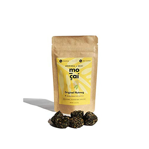 Healthy Snack Pack | Moringa & Aa | Set of 6 | Organic Ingredients | High Protein | Low Sugar | Low Carbs | Gluten Free | Energy Bites